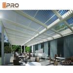 Best Electric Remote Control Aluminium Pergola System Outdoor For Garden wholesale
