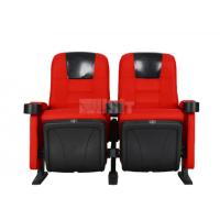 China Black PU Headrest Theater Room Seating , Theater Seating Furniture Modern Style on sale