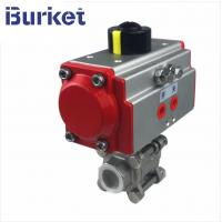 Best 4 inch two-sheet type stainless steel 304 motorized pneumatic ball valves manufacture wholesale