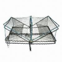 Best Fishing or Crab Trap, Made of PE Net, with 22 x 35cm Sectional Plane and 29/31 Circles Length wholesale