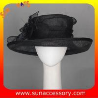 Best New design elegant sinamay Church hats for girls ,trendy Sinamay wide brim church hat from Sun Accessory wholesale