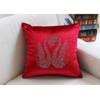 Buy cheap Swan Pattern Cushion Cover Luxury European Diamond Technology Car Seat Chair from wholesalers