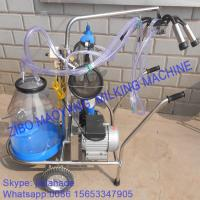 China Vacuum Pump Typed Single Bucket Mobile Milking Machine, hot sale portable milking machine for small farms on sale