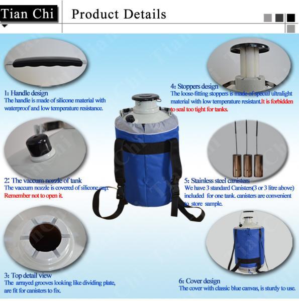 TianChi cryogenic liquid nitrogen cylinder 80L in Zimbabwe