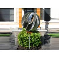 Best Attractive Stainless Steel Sphere Sculpture / Contemporary Steel Sculpture wholesale