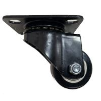 China ISO PU Caster With PP Core , Light Duty Casters Balck Swivel 50mm 65mm on sale