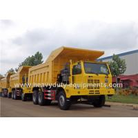 China Mining tipper truck / dump truck bottom thickness 12mm and HYVA Hydraulic lifting system on sale