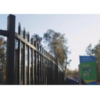 Best 1800mm x 2400mm Hercules Fence/garrison fence / modern fence gate design Black and Blue powder coated wholesale