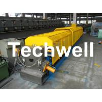 Best 3 * 3 Squared Rainwater Downpipe Roll Forming Machine For Water Pipe, Rain Gutter wholesale