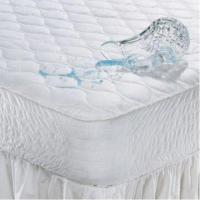 China Waterproof Mattress Pad with Polyester Fiber Filling, Made of 100% Cotton on sale