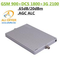 Best 65dB High Gain 900 1800 2100 MHz Tri-Band Cell Mobile Phone Signal Booster Amplifier,GSM DCS WCDMA 3G TriBand Repeater wholesale