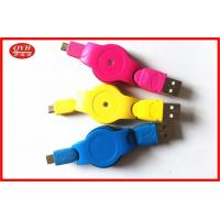 Best Customized Retractable Micro USB Cable , Colorful V2.0 Micro USB OTG Cable wholesale