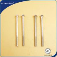 Best Professional Brass Hex Head Bolts , Din 931 8.8 Bolts Carbon Steel Material wholesale