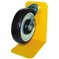 China Permanent Supermarket Shopping Trolley Accessories Flat rubber CASTOR wheels P-2 on sale