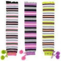 China Customed comfortable soft colorful knee high cotton kids warm socks with knitted pattern on sale