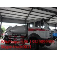 Best 270hp 4*2 North Benz Vacuum Suction sewage tank 8000 liter for sale, best price North Benz LHD 4*2 septic tank truck wholesale