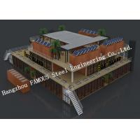 China Customized Modular Prefab Container House For Shopping Center Or Coffee Bar on sale