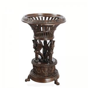Best Antique Golden Cast Iron Flower Pots Powder Coated For Garden Decoration wholesale