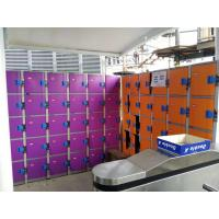 Buy cheap Plastic Gym Lockers Wtih Master Combination Padlock , 4 Tier Employee Storage from wholesalers