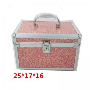Best Aluminum Professional Makeup Box Easy To Move With Black Velvet / EVA Lining wholesale