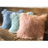 Best 18 Inches Long Sheep Fur Decorative Pillows , Mongolian Fur Outdoor Throw Pillows  wholesale