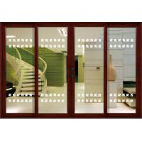 Buy cheap 1.4mm profile thickness white, red wood aluminum sliding glass doors for from wholesalers