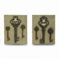 Best Square Sandstone Looking Wall Plaques with Key Design wholesale