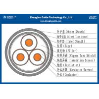China IEC 60502 3C Armored Cable , Medium Voltage  Electrical Cable 12/20KV (CU/XLPE/STA/NYBY/NYRGBY/NYB2Y) on sale