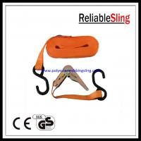 China Mini Ratchet Tie Down Strap with S Hook , 800kg Tie Down Lashing on sale