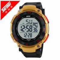 China Gold Multifunctional Digital Watch , Sports Digital Watches EL backlight wholesale