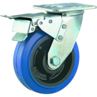 China 6 Inch  Rubber Caster Wheels For Garbage Container on sale
