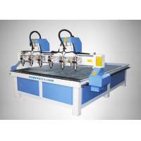 Best High Accuracy 4 Heads CNC Router Machine for MDF / Acylic / Stone / Marble wholesale