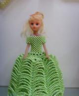 Bead handweave Barbie doll