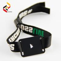 Buy cheap Cheap programmable long reading distance UHF RFID/NFC NTAG213 Fabric wristband/ from wholesalers