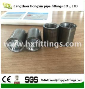 China Seamless and welding steel pipe sockets ,thread half /full thread on sale