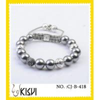 China High quality guaranteewhite adjustable size crystal beaded bracelet for anniversary, gift on sale