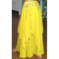 China Belly Dance Skirt, Dance Dress with coins on sale