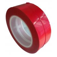 Best 75um Thickness 55M Film Splicing Tape Red  Base Material For Label Printing wholesale