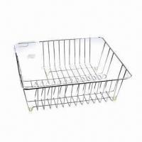 Best Dish Rack, Made of Iron Wire with Chrome-plating Finish, Customized Designs are Accepted wholesale