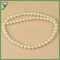 China Factory price wholesale 8mm white round AAAA loose fresh water pearls beads strand on sale