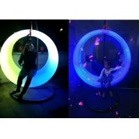 Best Battery Power Outdoor LED Light Furniture Circle Lighting Swing For Plaza Park Decoration wholesale