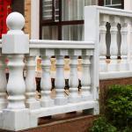 Best Guangzhou Cheap Wholesale White Marble Staircase Balcony Pillar Railing Balustrade Stone wholesale