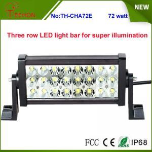 Best Super bright IP67 waterproof Three row LED light bar for ATV,SUV,UTV,truck,fork lift,train wholesale