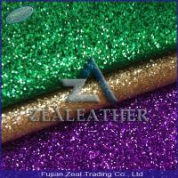 China China Famous PU Glitter Artificial Leather for Shoe&Handbag on sale