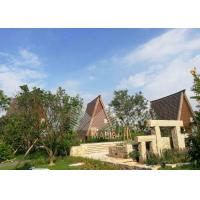 Best Light Steel Structure Prefabricated Wooden Houses , Prefabricated Log Homes wholesale