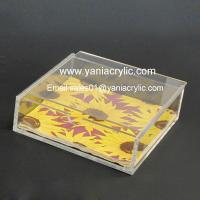 Best Napkin Rack Laser Engraving Weatherability Perspex Acrylic Tissue Holder With SGS Standards wholesale