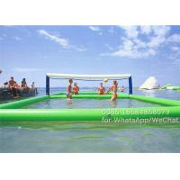 Best Commercial PVC Inflatable Water Sports , Inflatable Water Volleyball Court 11 x 4.5 m wholesale