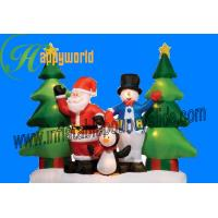 Best Inflatable Christmas Decorations , Airblown Inflatable Christmas Tree For Kids wholesale