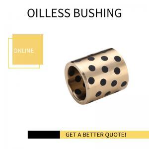 Best Graphite Inlaid Oiless Gunmetal Solid Lubricant Bearings Bronze Bushings NORMAL METRIC BUSHING wholesale