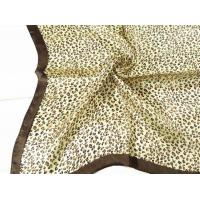 China Ladies 2013 Fashion 100% silk small Square Silk Scarf/coffee leopard print scarves for women 53*53CM on sale